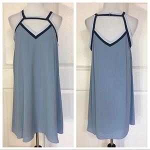 BCBGMAXAZRIA Kiersten Dress In Shadow Blue